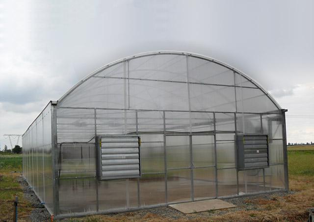 invernaderos tipo t nel con cubierta de policarbonato